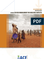 DISASTER RISK MANAGEMENT FOR INSECURE CONTEXTS - BRIEFING PAPER