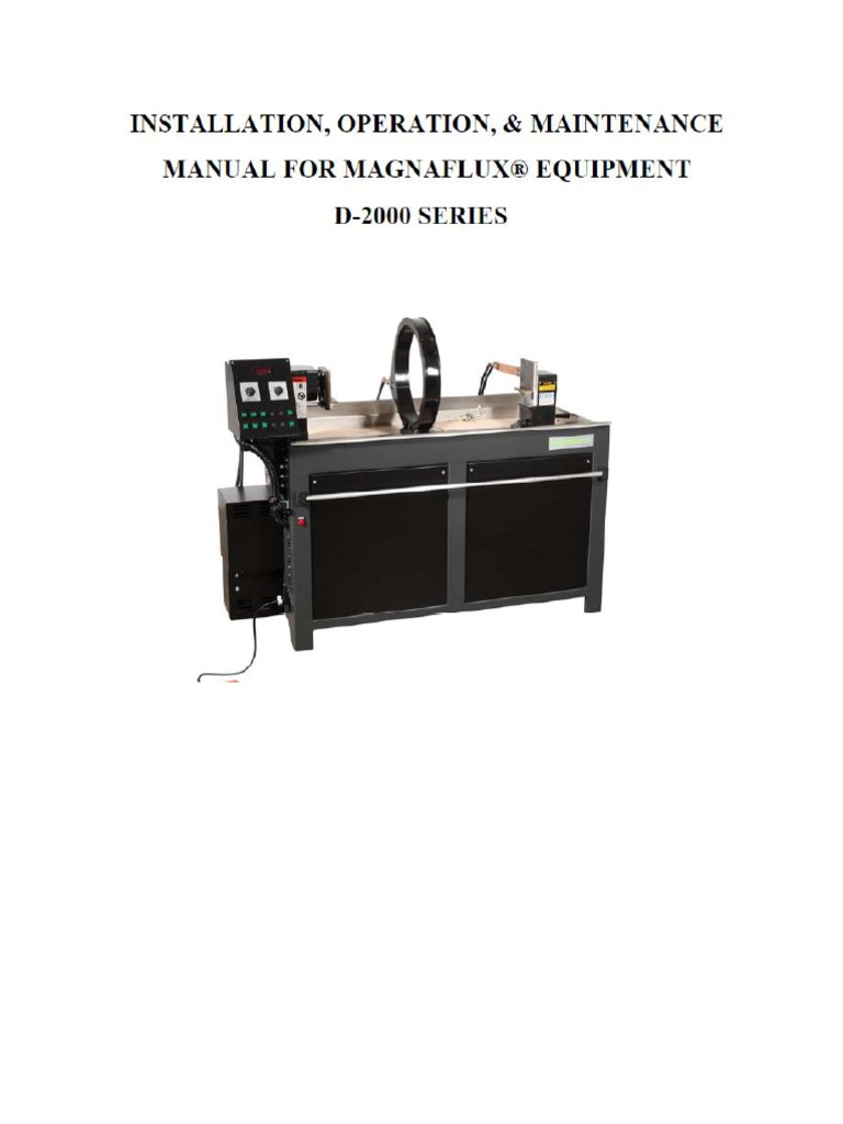 Manual Maquina Magnaflux