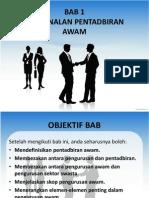 pentadbiran awam