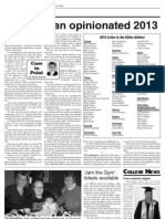 Derek Sawvell's column in the Wilton-Durant Advocate News Jan. 10, 2013