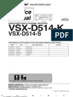 Pioneer++Vsx d514 k++Vsx d514 s