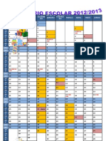 Calendário Escolar Colorido 2012-2013