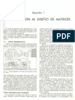 Fundamento de diseño de matrices.