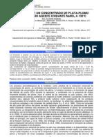 LIXIVIACIÓN DE PLOMO CON NaNO3