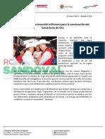 13-01-13 Boletin 1150 Gestiona Roberto inversión millonaria para la construcción del Canal Costa de Oro