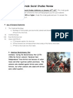 8th grade social studies midterm review