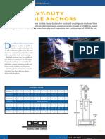 Deco Heavy Duty Adjustable Anchors Sales Sheets