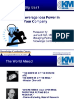 KM Brazil 2004 Keynote - Harnessing Idea Power
