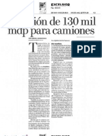 Inversión de 130 mil mdp para camiones