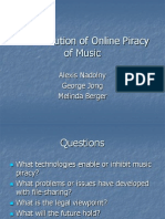 The Evolution of Online Piracy of Music