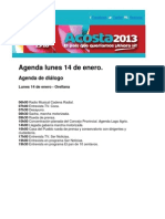 Agenda Lunes 14-Enero 2013