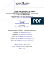 Dimou Urban Hierarchies and City Growth in the Balkans