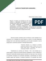 INDICAÇÃO DE TRANSFUSÃO SANGUINEA