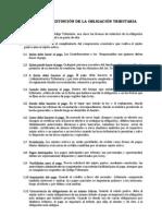 MODOS DE LA EXTINCIÓN DE LA OBLIGACIÓN TRIBUTARIA Art. 37