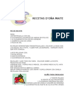 RECETAS DOÑA MAITE