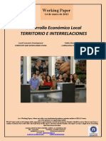 Desarrollo Económico Local. TERRITORIO E INTERRELACIONES (Es) Local Economic Development. TERRITORY AND INTERCONNECTIONS (Es) Tokiko Ekonomi Garapena. LURRALDEA ETA ELKARLOTURAK (Es)
