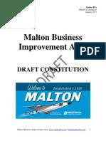 Malton BIA DRAFT Constitution - January 2013