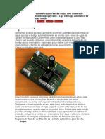 Circuito de controle automático para bomba dagua com sistema de detecção de reservatório