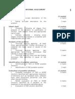 Mark Scheme for Internal Assessment
