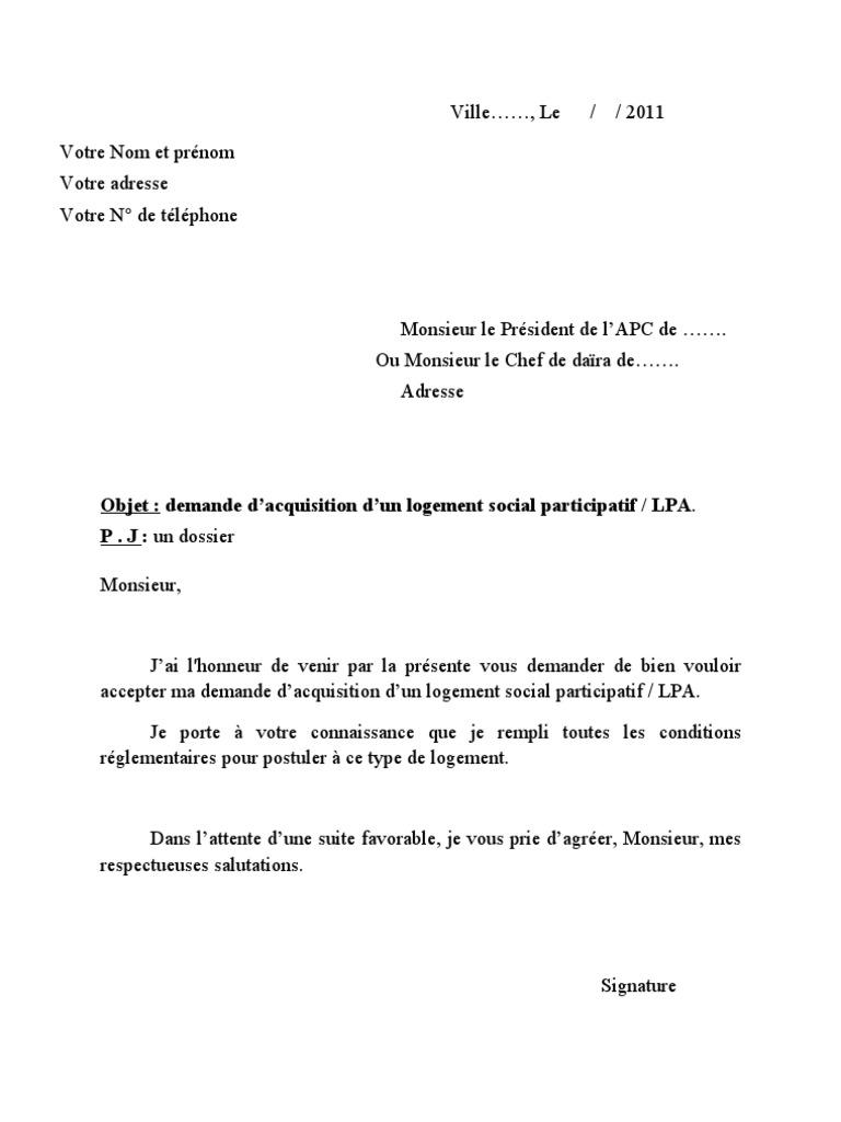 formulaire demande logement lpa