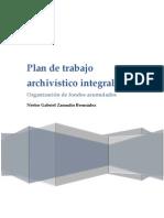 Plan de trabajo archivístico integral