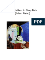 """Three Letters to Stacy Blair (Adam Fieled)"""