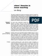 Teachers' theories in