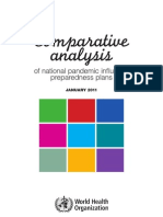 Comparative Analysis of National Pandemic Influenza Preparedness Plans - 2011