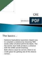 GRE Sentence Equivalence