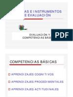 Técnicas e instrumentos de evalauación - Eval. y competencias básicas