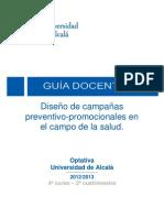 GUÍA DOCENTE. CAMPAÑAS PREVENTIVO-PROMOCIONALES