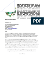 First Nations and Bill C- 45 Letter From Caucus and Allies