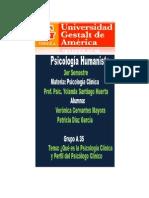 1-Qué es la Psicología Humanista y Perfil del Psicologo Clínico