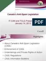 Canada's Anti-Spam Legislation