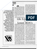 Life Extension vs Lower RDAs, by Nicolas Martin