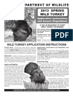 2013 Spring Turkey Application, Seasons & Regulations