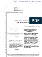 DAVIES FILES ORDER TO SHOW CAUSE FOR CONTEMPT- JANUARY 2013-FORECLOSURE-APPELLEE IGNORING INJUNCTION