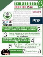 Boletín PATRIOTA No.3 DIÁLOGOS DE PAZ