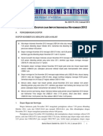 Perkembangan Ekspor Di Indonesia Desember 2012