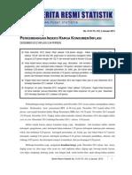 Perkembangan Inflasi DI Indonesia Bulan Desember 2012