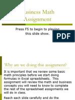 power point presentation in business math