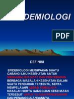 Pengertian & ruanglingkup Epidemiologi