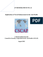 CSCAP Memo No.21 - Implications of Naval Enhancement