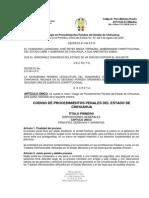 Codigo Penal de Derecho para la ley estatal del estado de Chihuahua Este espacio se creo con el fin de mejorar la fuentes de información propias de enfermería para los estudiantes de enfermería de la UIS