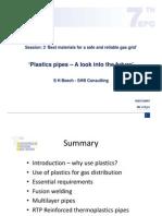 Plastics pipes