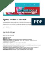 Alberto Acosta y Marcia Caicedo Agenda Martes 15 de Enero del 2013