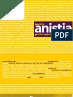 revista anistia - polítca e justiça de transição