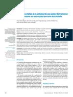 analisis descriptivo de la actividad de una unidad de trastornos del movimiento en un hospital terciario