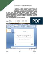Principales componentes de la pantalla de PowerPoint 2010