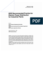Recommended practice for electric power distribution for industrial plants